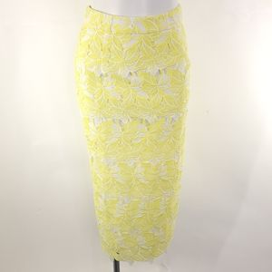 NEW Sunday in Brooklyn Buttercup Lace Pencil Skirt
